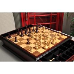 "Ajedrez de madera The Reykjavik II Series Gilded Chess Pieces - Rey de  3.75"""