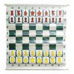 """Juego de tablero de demostración (enseñanza) de ajedrez estilo bolsa de 28 """" con bolsa de transporte de lujo"""