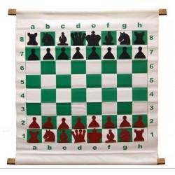 """Juego de tablero de demostración (enseñanza) de ajedrez estilo magnético de 28 """"con bolsa de transporte de lujo"""